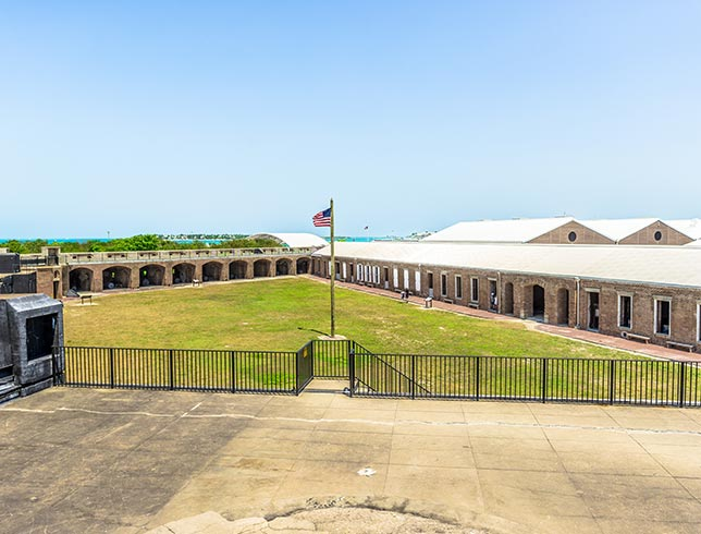 Fort Zachary Taylor State Park in Key West, Florida