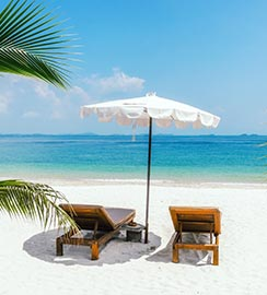 Beach with Free Chairs & Towels at Key West
